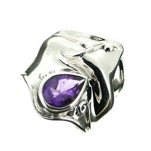 Sterling Silver And Amethyst Ring-D162