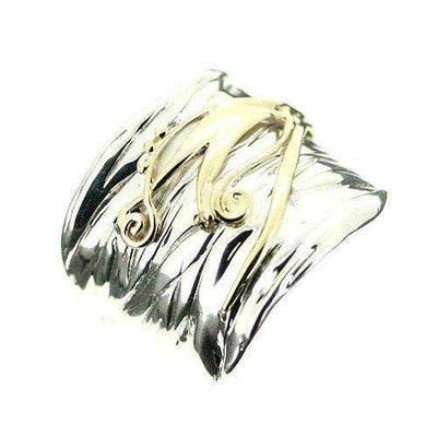 Hagit Gorali Sterling Silver And Gold Ring-E351-Ogham Jewellery