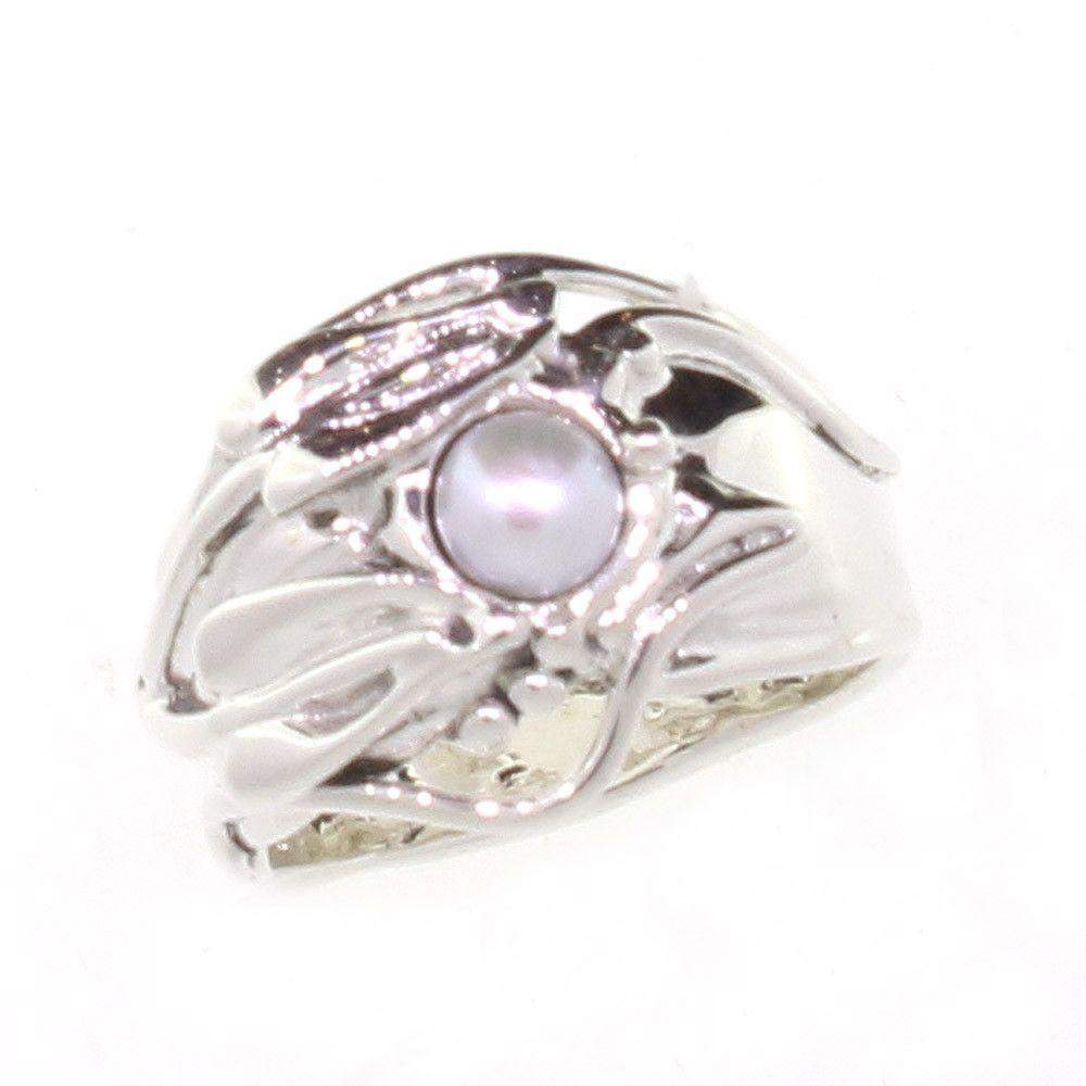 Hagit Gorali Sterling Silver And Pearl Ring -2705-Ogham Jewellery