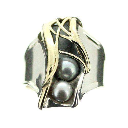 Hagit Gorali Sterling Silver And Pearl Ring C660-Ogham Jewellery