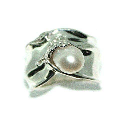Sterling Silver And Pearl Ring -G114