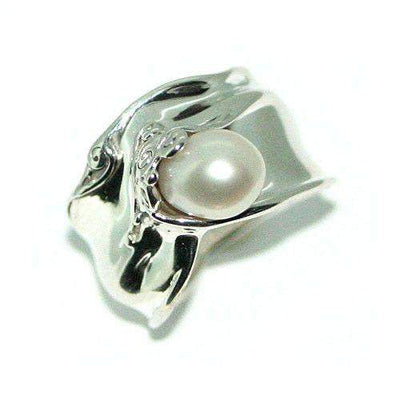 Hagit Gorali Sterling Silver And Pearl Ring -G114-Ogham Jewellery