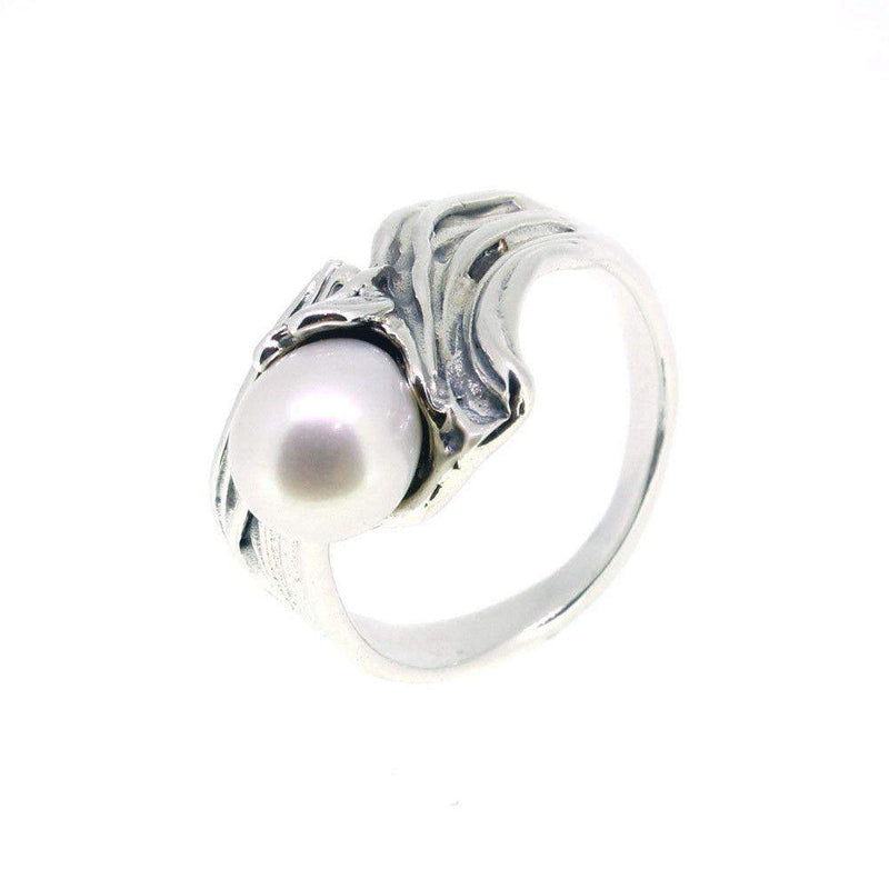 Hagit Gorali Sterling Silver And Pearl Ring -G232-Ogham Jewellery