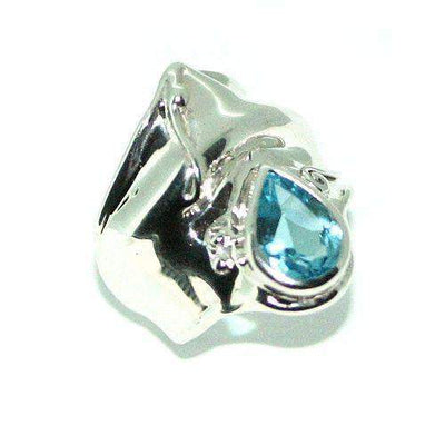 Hagit Gorali Sterling Silver And Topaz Ring-HD162-Ogham Jewellery