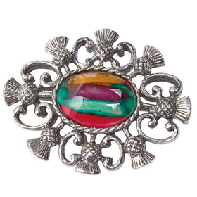 Heather Alyth Thistle Brooch - CHB5-Ogham Jewellery