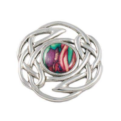 Heather Celtic Knot Brooch - HB58-Ogham Jewellery