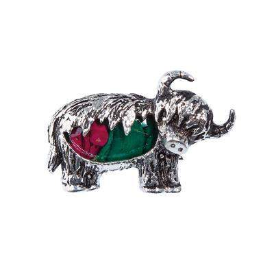 Heather Highland Cow Brooch - HB76-Ogham Jewellery