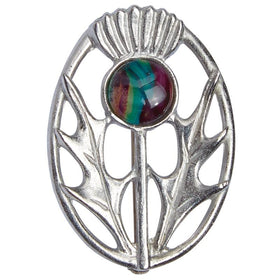Heather Modern Thistle Brooch - HB56-Ogham Jewellery