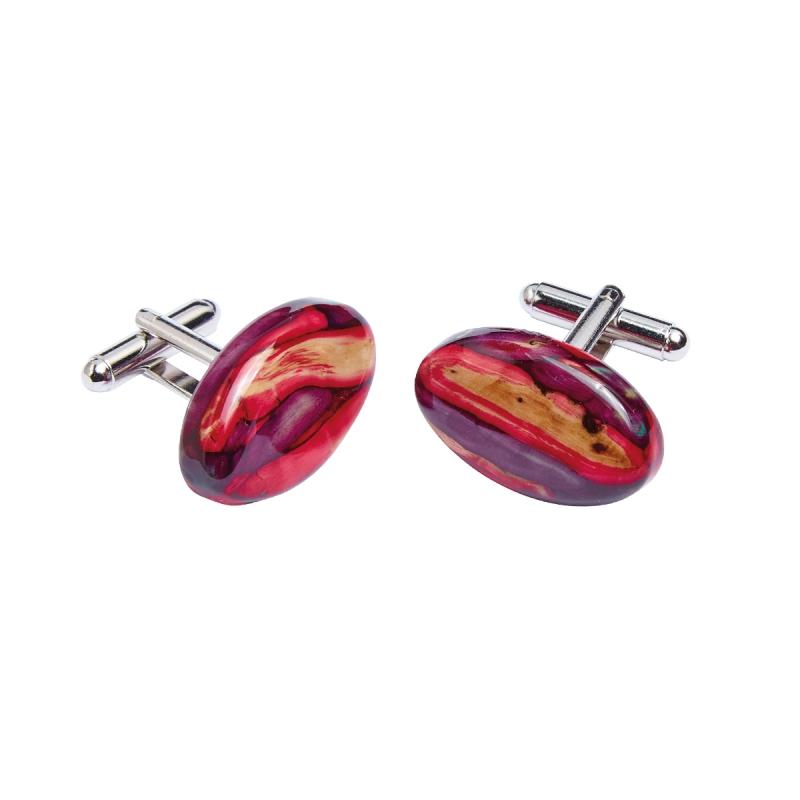 Heather Oval Cufflinks - HC7-Ogham Jewellery