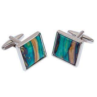 Heather Square Cufflinks - HC8-Ogham Jewellery