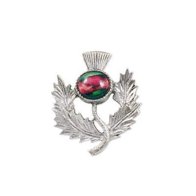 Heather Thistle Brooch - CHB1-Ogham Jewellery