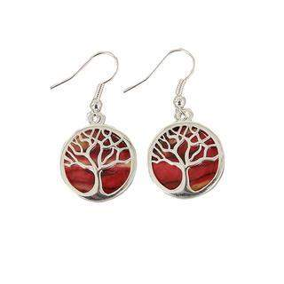 Heather Tree of Life Earrings - HE89-Ogham Jewellery