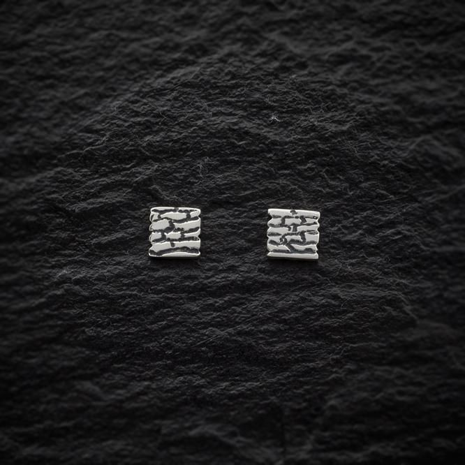 Heilagr Dry Stone Dyke Stud Earrings - E6-Ogham Jewellery