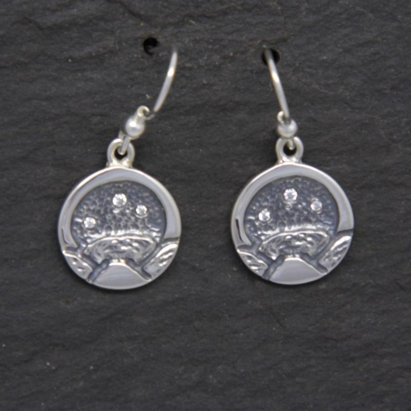 Heilagr Islands View Drop Earrings - EXS1-Ogham Jewellery