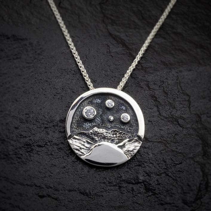 Heilagr Islands View Pendant - SP1-Ogham Jewellery