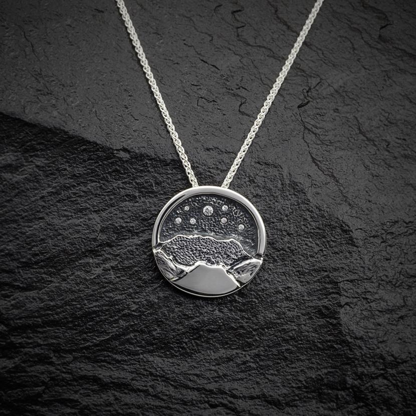 Heilagr Islands View Pendant - SP2-Ogham Jewellery