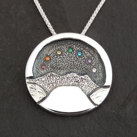 Heilagr Islands View Rainbow Pendant - SP2RB-Ogham Jewellery