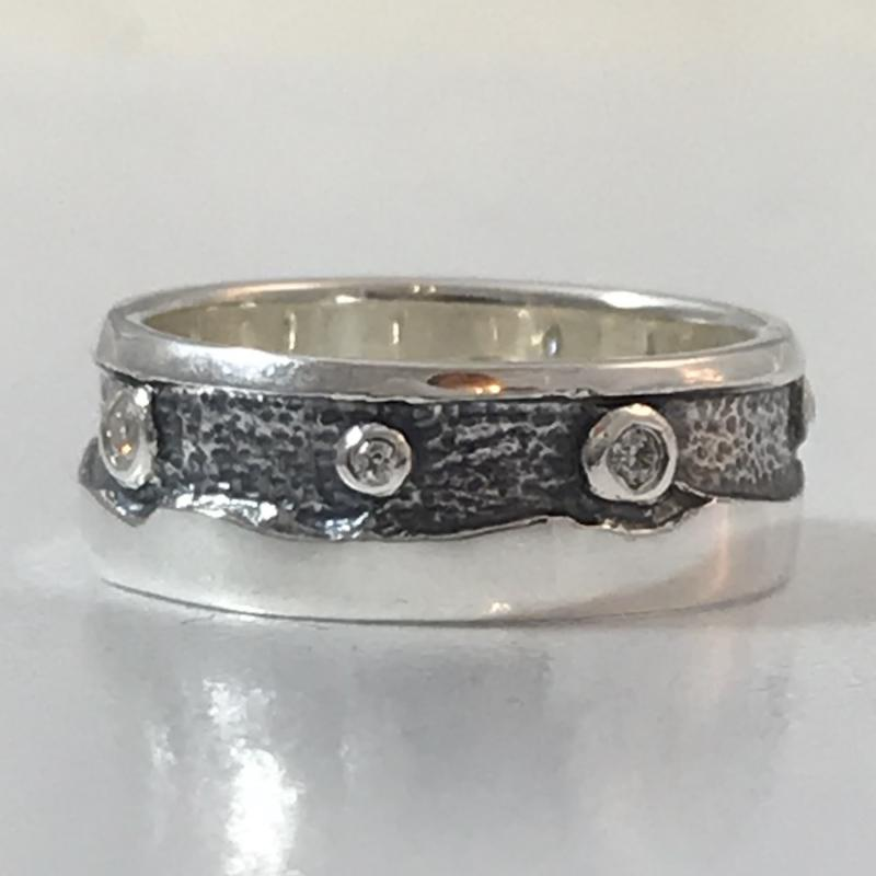 Heilagr Islands View Stone Set Ring - SRX1-Ogham Jewellery