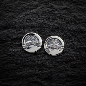 Heilagr Islands View Stud Earrings - E1-Ogham Jewellery