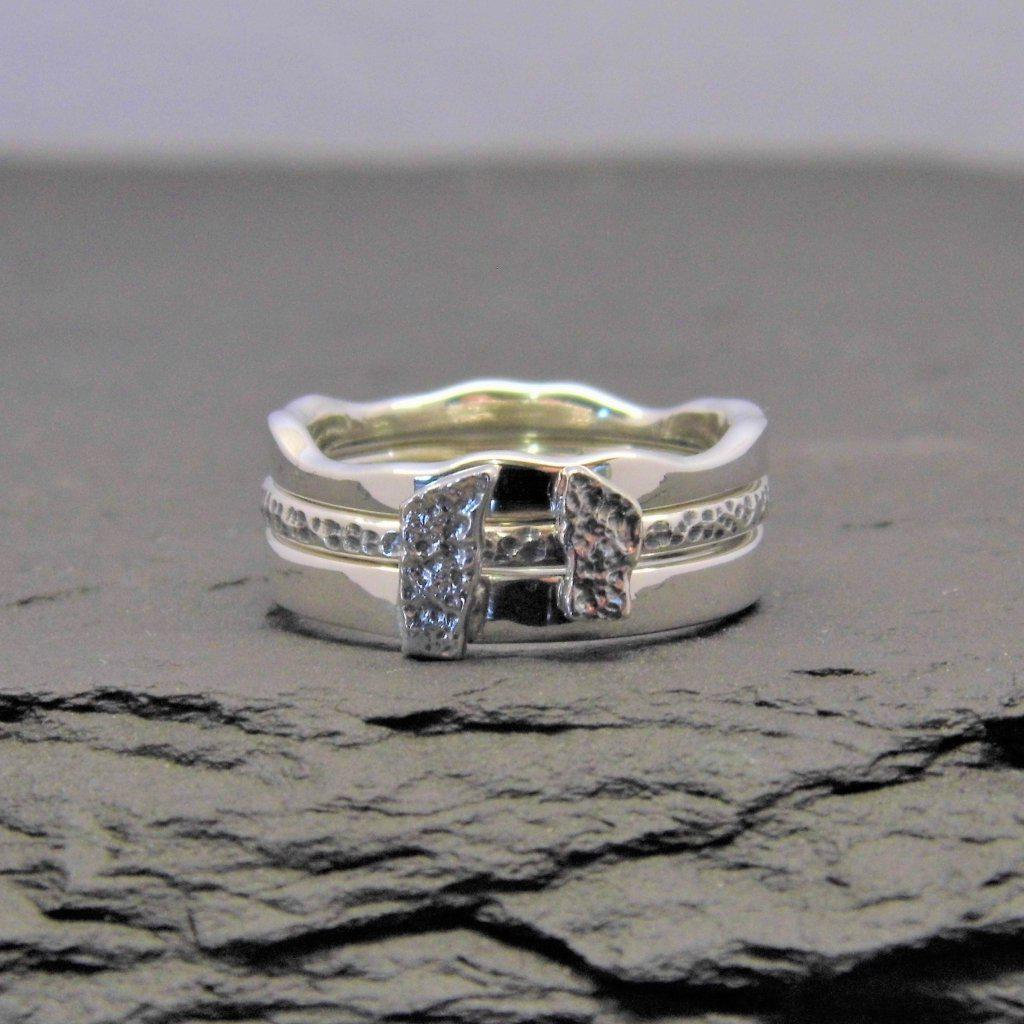 Heilagr Silver or 9ct Gold Brodgar Stacking Ring - RX12-Ogham Jewellery