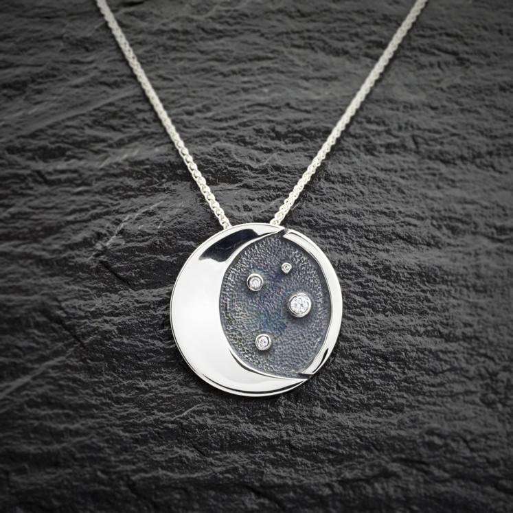 Heilagr Starry Night Pendant - SP8-Ogham Jewellery