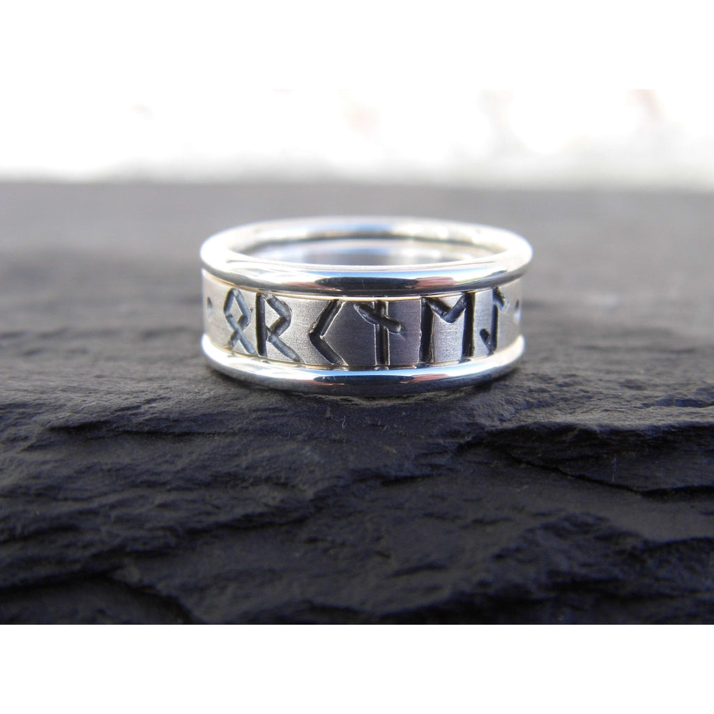 Heilagr Viking Runes Stacking Ring - RX9-Ogham Jewellery