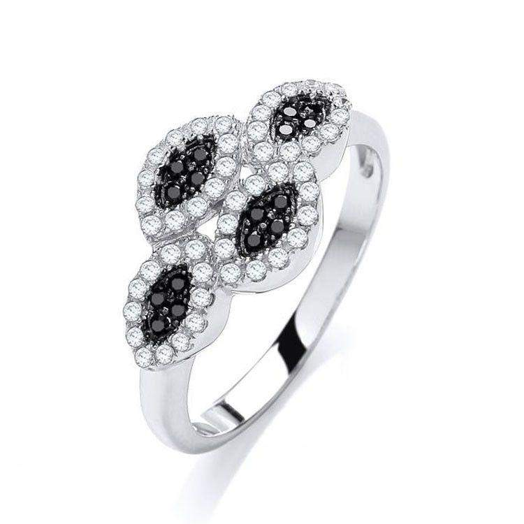 J JAZ Cubic Zirconia Dress Ring -JZR052-Ogham Jewellery
