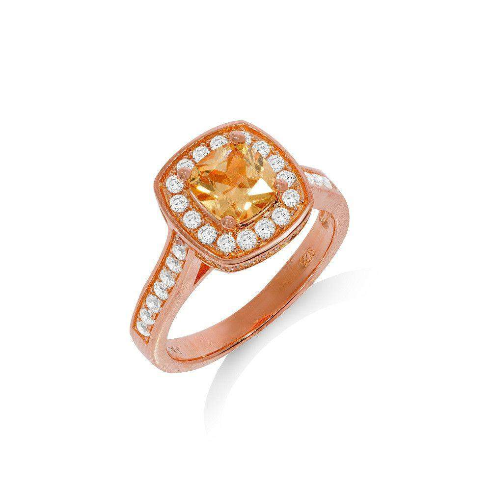 J JAZ Cubic Zirconia Dress Ring -JZR087-Ogham Jewellery