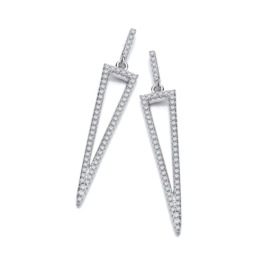 J Jaz Cubic Zirconia Earrings-JZER129-Ogham Jewellery
