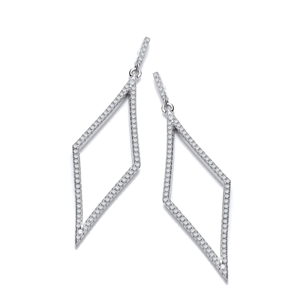 J Jaz Cubic Zirconia Earrings-JZER130-Ogham Jewellery