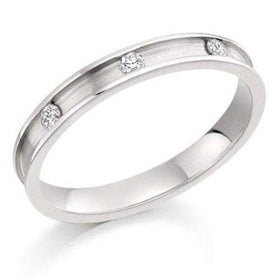 Ladies Diamond Wedding Ring - 9ct, 18ct Yellow or White Gold, Platinum or Palladium, XD1023-Ogham Jewellery