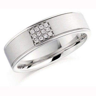 Ladies Diamond Wedding Ring, White or Yellow Gold, Palladium, Platinum, BXD863-Ogham Jewellery