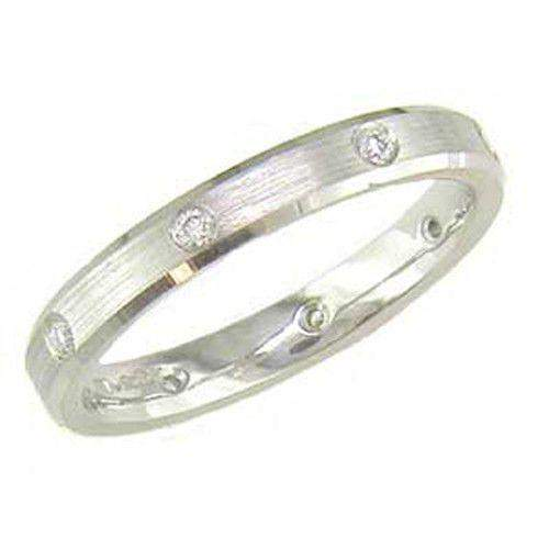 Ladies Diamond Wedding Ring - White or Yellow Gold, Platinum or Palladium, XDBN497-Ogham Jewellery