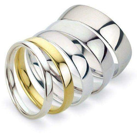 Ladies Light Weight Court Shape Wedding Ring - Gold Platinum Palladium - 3-5mm-Ogham Jewellery
