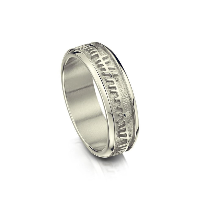 Ladies Ogham Ring - Gold, Platinum or Palladium - R100 - Sizes J-Q