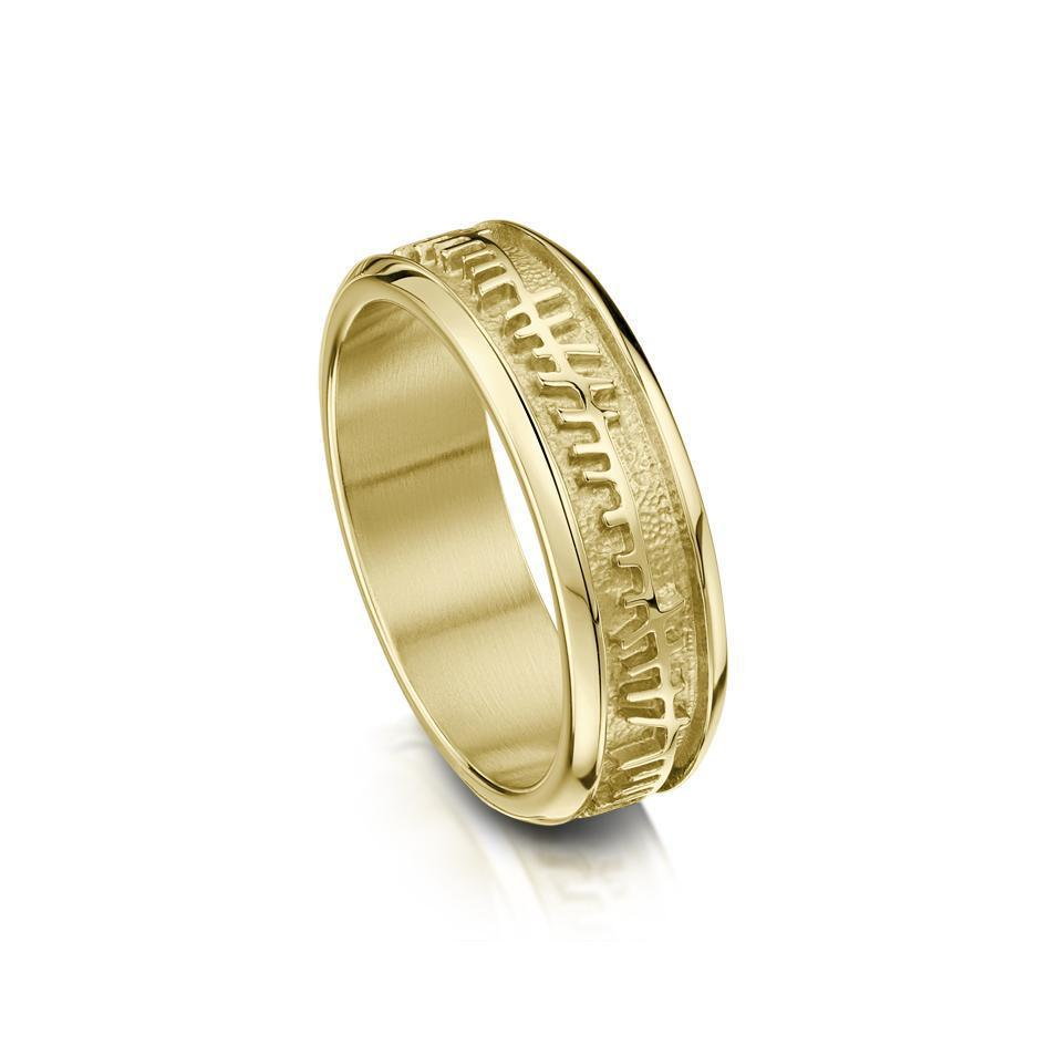 Ladies Ogham Ring - Gold, Platinum or Palladium - R100 - Sizes J-Q-Ogham Jewellery