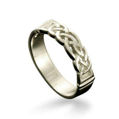 Linga Celtic Ring Various Metals - R129 - Size R-Z-Ogham Jewellery