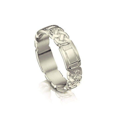 Lover's Knot Celtic Wedding Ring - GR25 - Various Metals-Ogham Jewellery