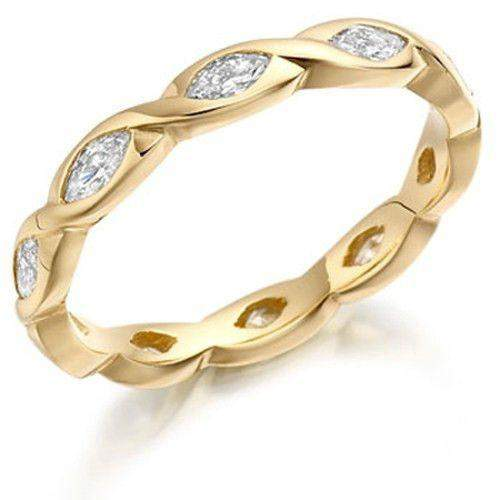 Marquise Cut Diamond Eternity Ring - Available in Various Metals -XD903BN-Ogham Jewellery