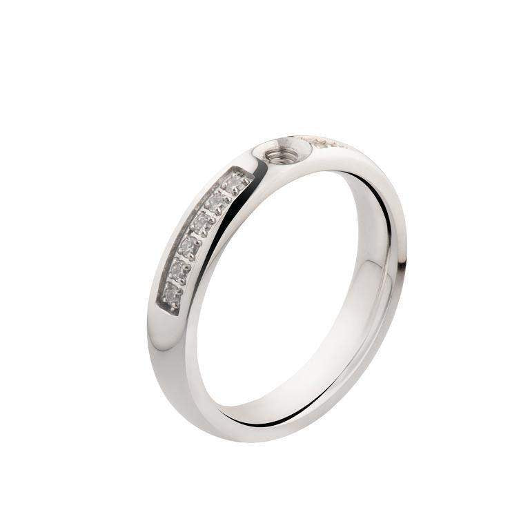 Melano Designer Twisted Ring with CZ - 5010_CZ-Ogham Jewellery