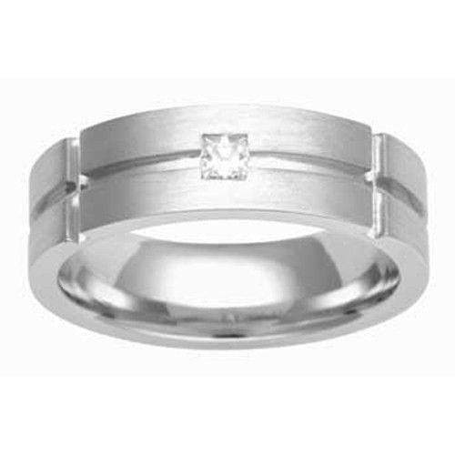 Mens Diamond Wedding Ring - 3638 - Various Metals-Ogham Jewellery