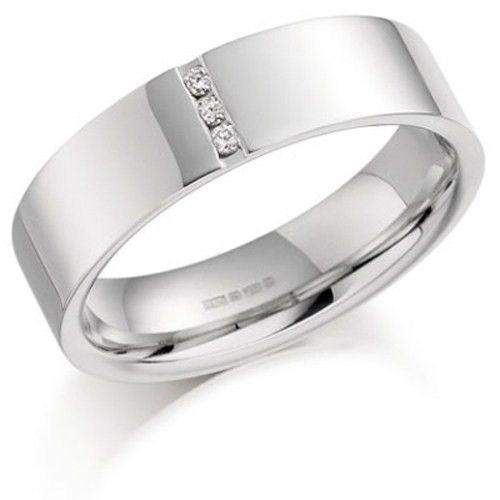 Mens Diamond Wedding Ring - Palladium, Platinum, 9ct, 18ct White or Yellow Gold, BXD872-Ogham Jewellery