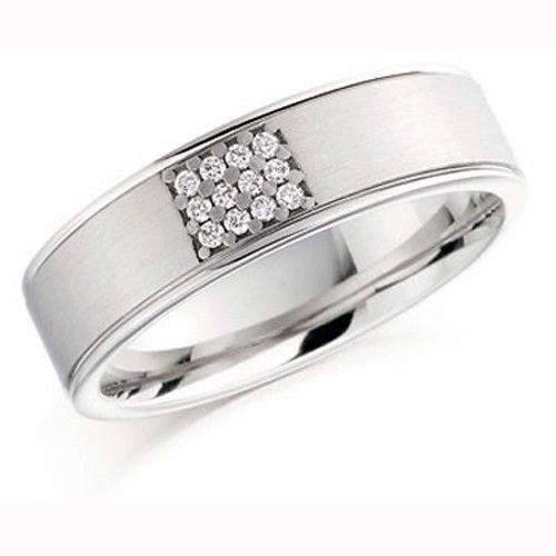 Mens Diamond Wedding Ring - Palladium, Platinum, Yellow or White Gold, BXD863-Ogham Jewellery
