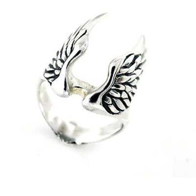 Mens Silver Winged Ring-Ogham Jewellery