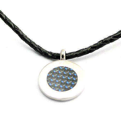 Mens Stainless Steel & Carbon Necklace - SP01073-Ogham Jewellery