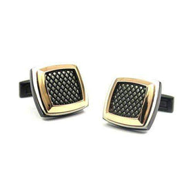Mens Titanium Cufflinks-Ogham Jewellery