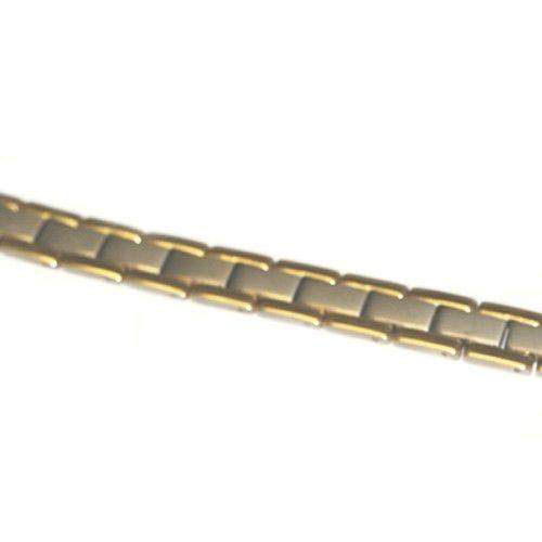 Mens Titanium & Gold Plated Bracelet-Ogham Jewellery