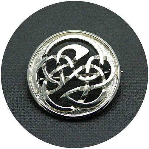 Mithril Silver Celtic Brooch 033B-Ogham Jewellery