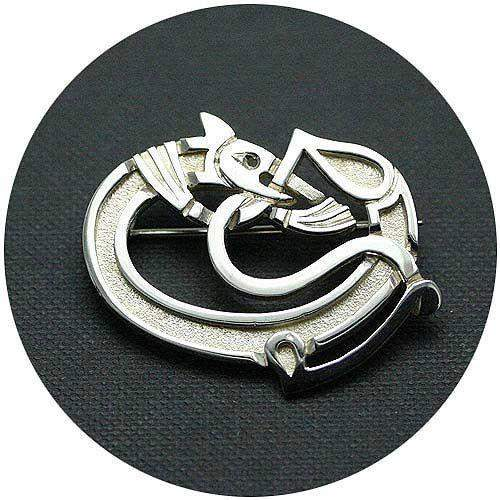 Mithril Silver Celtic Brooch A1-Ogham Jewellery