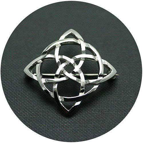 Silver Celtic Brooch C26
